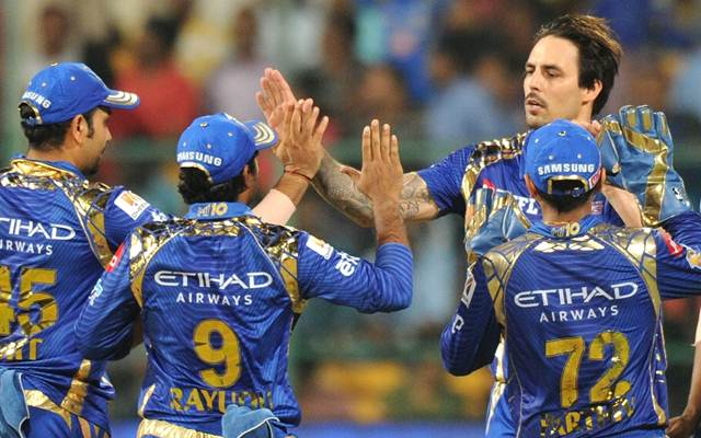 Mitchell Johnson of Mumbai Indians