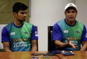 Karaikudi Kaalai captain S Badrinath and c ... in Singh speak to the media in Chennai