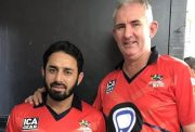 Saeed Ajmal and Andy Caddick
