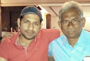 Sarfraz Ahmed with his uncle Mehboob Hasan
