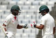 Shakib Al Hasan (L) and Tamim Iqbal