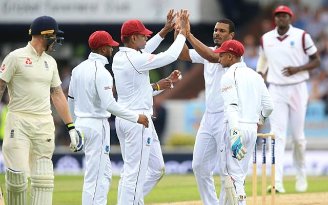 Shannon Gabriel and Ben Stokes