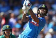 Shikhar Dhawan of India in action