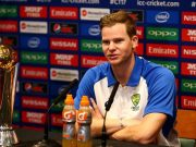 Australia Captain Steve Smith chats to the media during the Australia Press Conference at Lord's