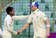 Steven Smith and Mushfiqur Rahim
