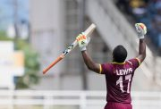 West Indies' Evin Lewis
