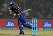 Hardik Pandya of Mumbai Indians in action