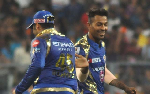 Mumbai Indians celebrate fall of a wicket IPL