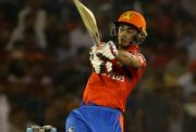 Mohali: Ishan Kishan of Gujarat Lions in action