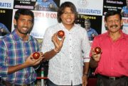 Jhulan Goswami, Wriddhiman Saha and Utpal Chatterjee, India