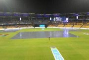Bengaluru: Rains interrupt IPL 2017 second qualifier match between Kolkata Knight Riders and Sunrisers Hyderabad at M Chinnaswamy Stadium KSCA