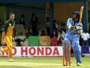 Sachin Tendulkar of India Glenn McGrath