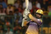 Sunil Narine of Kolkata Knight Riders in action.
