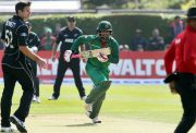 Bangladesh's Tamim Iqbal runs between wickets