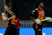 Vijay Shankar and David Warner