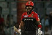 Royal Challengers Bangalore captain Virat Kohli reacts