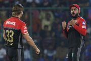 Virat Kohli and Shane Watson of Royal Challengers Bangalore