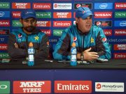 Pakistan coach Mickey Arthur and captain Sarfraz Ahmed