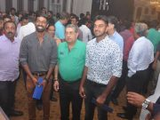 N Srinivasan with Tamil Nadu players. (Photo Source: TNPL)