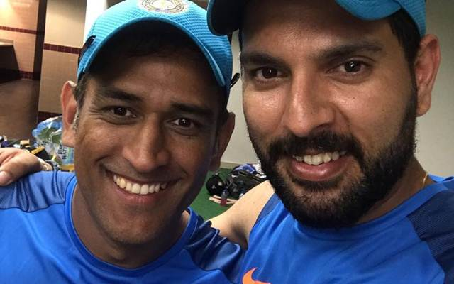 Image result for Yuvraj and Dhoni