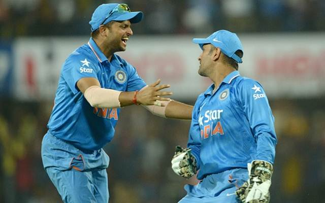 Suresh Raina and MS Dhoni.