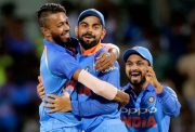 Hardik Pandya and Virat Kohli India v Australia