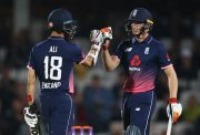Moeen Ali and Jos Buttler of England
