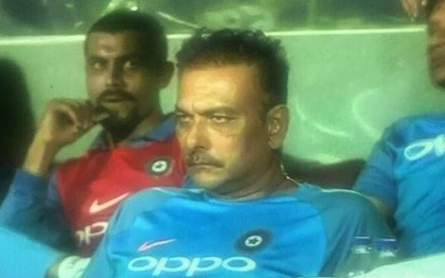 The Ravi Shastri face has gone viral and Twitter just can't