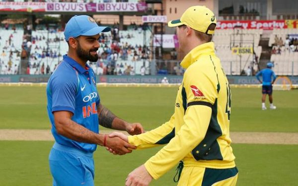 Virat Kohli shakes hands with the Aussie skipper Steve Smith News India
