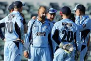 Nathan Lyon of the Blues