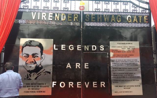 Honoured to have gate at Kotla stadium named after me: Sehwag