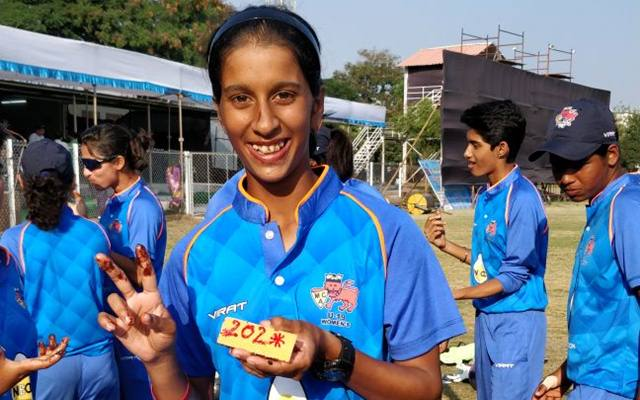 Mumbai girl Jemimah Rodrigues slams double century in 50-over cricket