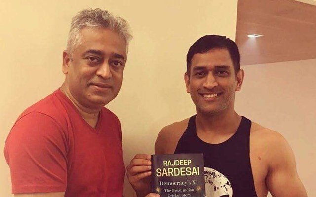 Rajdeep Sardesai and MS Dhoni