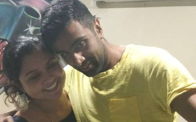 Ravi Ashwin with his wife Priti