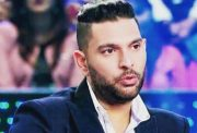 Yuvraj Singh on the sets of KBC show