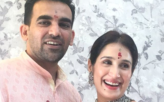 First Picture out: Now Sagarika Ghatge is Zaheer Khan's official wife