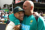 David Warner & Darren Lehmann of Australia
