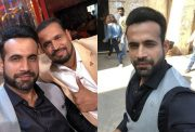 Irfan Pathan and Yusuf Pathan on the sets of Entertainment ki Raat