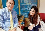 Poonam Kaur and Sunil Gavaskar