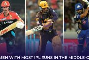Batsmen with most IPL runs in middle-order