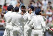 Bhuvneshwar Kumar celebration