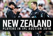 IPL 2018: List of NZ players and their base price for the auction