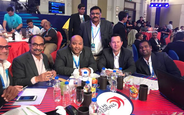 Delhi Daredevils auction table (JSW Sports)