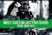 Most sixes in last five overs in ODIs since 2013