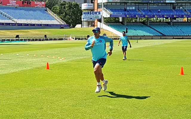 MS Dhoni practice session