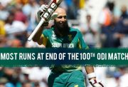 Most runs at the end of 100 ODIs