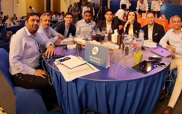 Mumbai Indians auction table