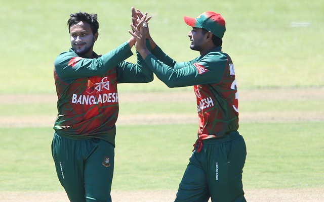 Shakib al Hasan needs 1 more wicket to complete 500 wickets in international cricket. (Photo - Getty images)
