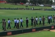 South African forces practicing their drills