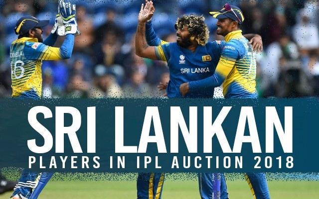 List of Sri Lankan players and their base price for the auction